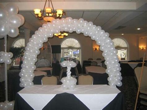 Balloon table top arch balloon arches amp canopies pinterest