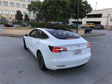 Tesla Rear Tesla Model 3 Supercharging Rear Teslarati