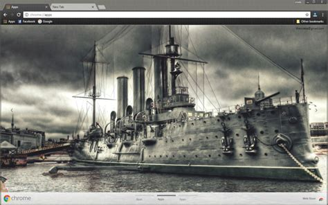 theme chrome vintage vintage war ship chrome theme chromeposta