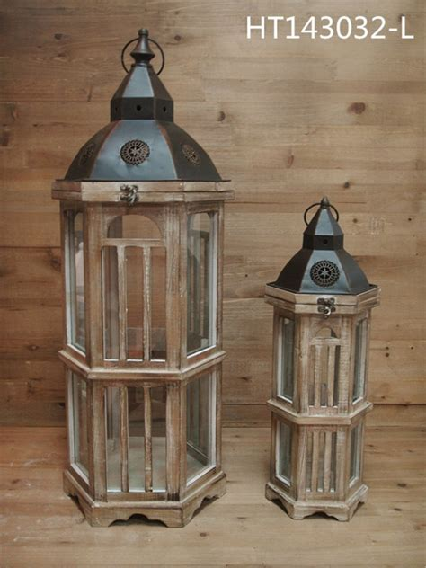 hanging outdoor wooden table decorative home decor lantern
