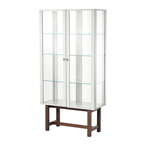 glass door cabinet stockholm glass door cabinet beige ikea