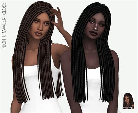 sims 4 hair cc braids sims 4 hairs miss paraply nightcrawler s close hair