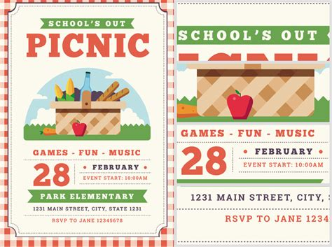 school s out picnic flyer template flyerheroes