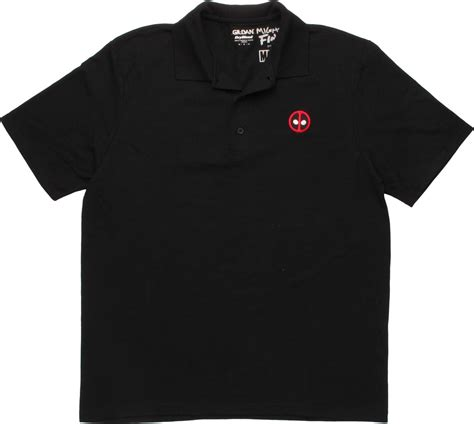 Kaos Deadpool Logo Polo Shirt deadpool small logo polo shirt