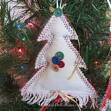 christmas tree ornament fabric christmas ornament by