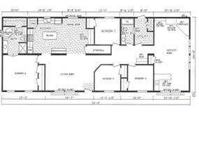 Modular Homes 4 Bedroom Floor Plans by Bedroom Bath Mobile Home Also 4 Double Wide Floor Plans