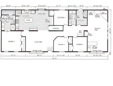 Mobile Homes Floor Plans by Bedroom Bath Mobile Home Also 4 Double Wide Floor Plans