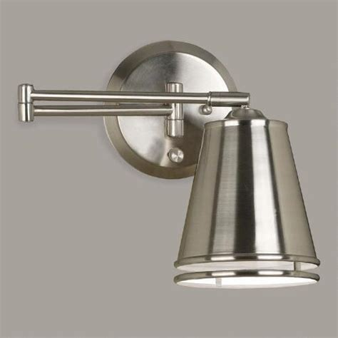 Swing Arm Sconce Brushed Steel Dale Swing Arm Wall Sconce World Market