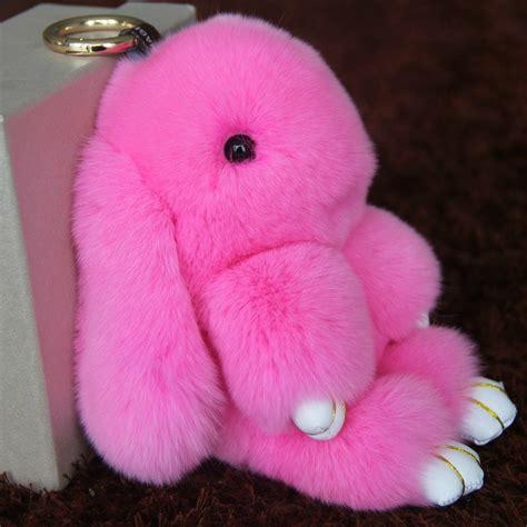 Fluffy Mini Pom Pom 1 real rex rabbit fur keychain mini fluffy rabbit doll