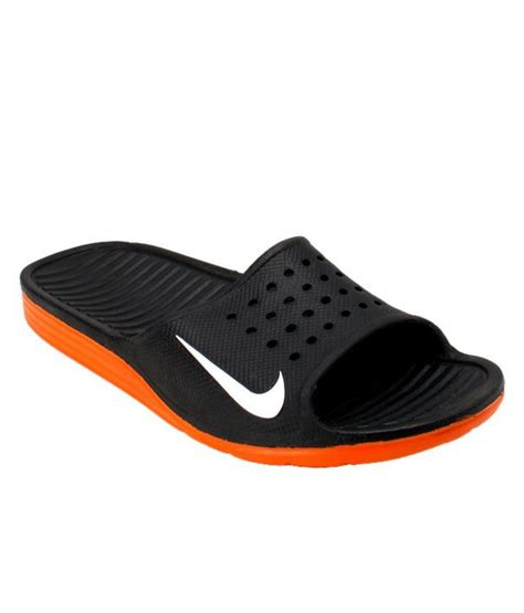 nike house shoes nike solar soft slide black orange slippers available at snapdeal for rs 1900