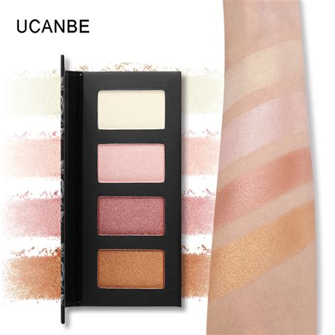 City Color Glow Duo Highlight Powder ucanbe brand 4 color glow kit highlighter makeup palette duo chrome powder highlights
