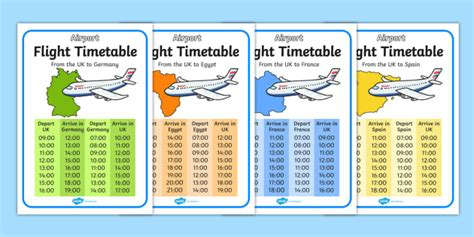 Airline Time Table Collection by Airport International Flight Timetable Airport Play