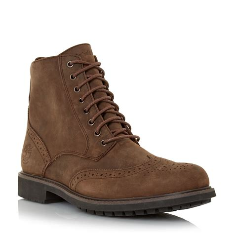 Timberland Boot Nubuck timberland nubuck lace up brogue boots in brown for lyst