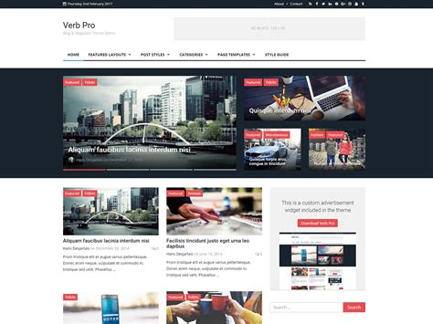 wordpress themes blog download verb blog magazine wordpress theme by themely