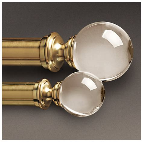 curtain rods and finials lucite curtain rods nomad luxuries