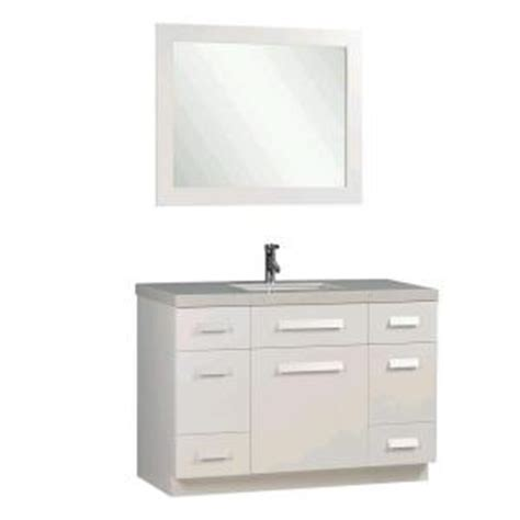 design elements vanity home depot design element moscony 48 in w x 22 in d vanity in white