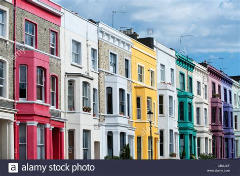 buy house notting hill colourful terraced houses portobello road notting hill