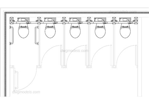 toilet layout dwg public toilet plan dwg free cad blocks download