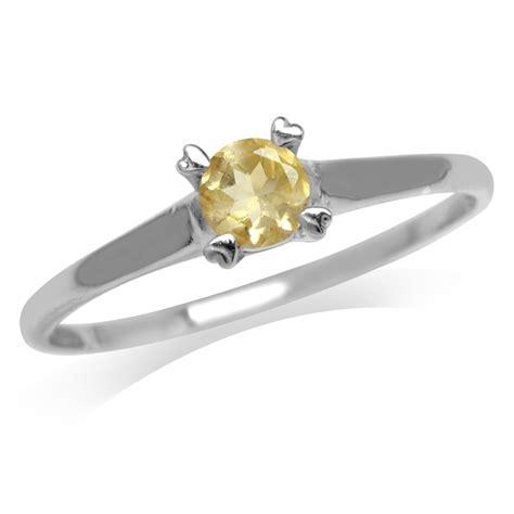 Sl52 Topaz Amethyst Garnet Citrine 925 Silver Ring Gold Plate citrine garnet topaz amethyst white gold plated 925