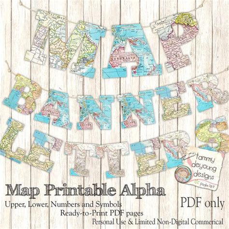 printable alphabet garland map banner garland printable world map alphabet by