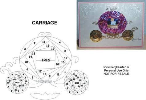 princess carriage template 255 best images about iris folding cards on