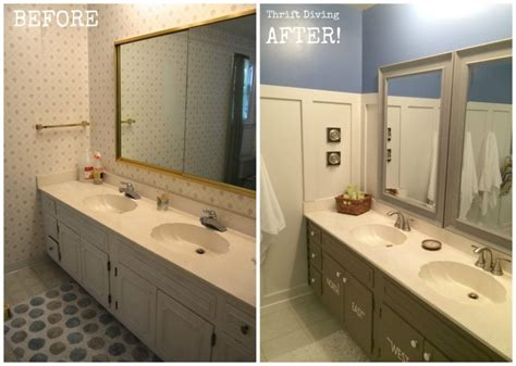 bathrooms before and after before after kids bathroom makeover reveal thrift