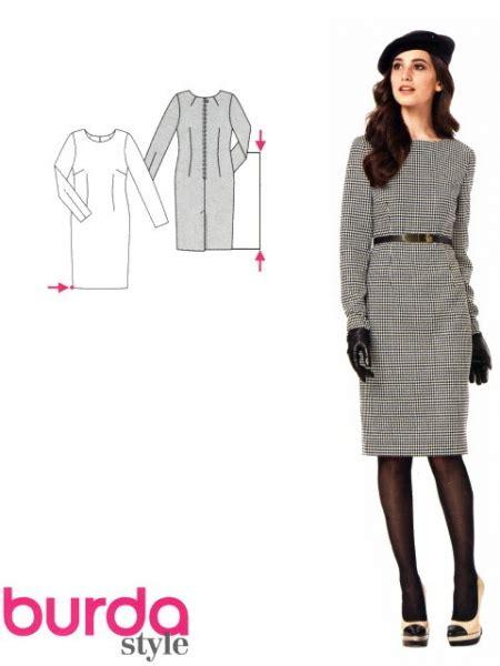 Patron Robe Droite Hiver - patron de couture robe mode en image