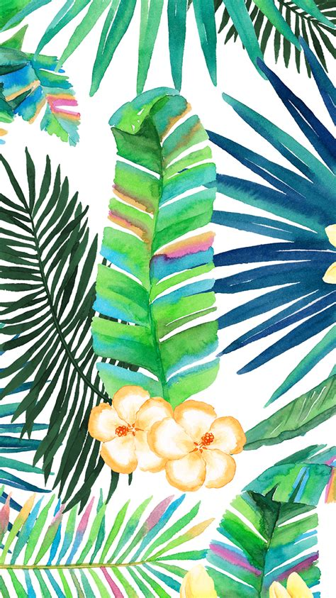 wallpaper tropical green tropical floral plant vibes iphone wallpaper or