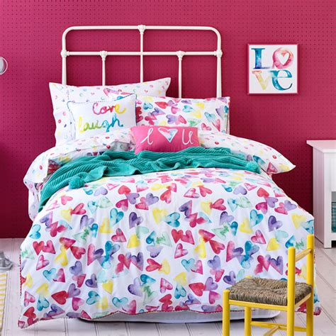 houzz bedding adairs kids girls love hearts contemporary kids