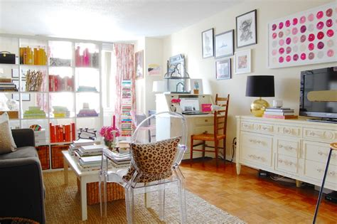 girly studio apartment design ideas my houzz sweet sophistication for a manhattan studio