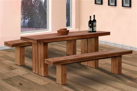 Wooden Kitchen Tables With Benches Ante Bellum Wooden Bedroom Benches Decobizz