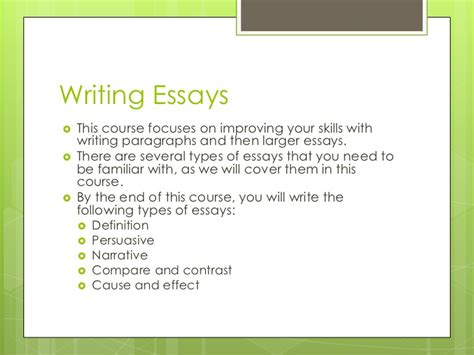 Types Of College Essays by What Types Of Essays Are There Types Of Essays