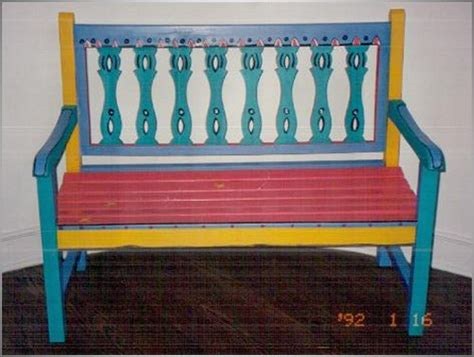 painted benches ideas caribbean style furniture kids art decorating ideas