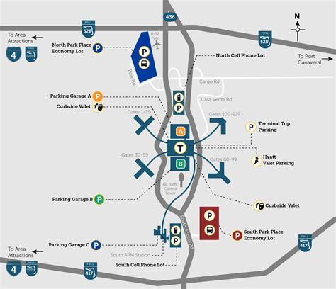 mco map parking orlando international aiport mco