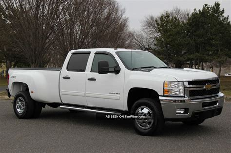 2011 chevrolet 3500 crew lt 6 6l diesel dually 1 owner