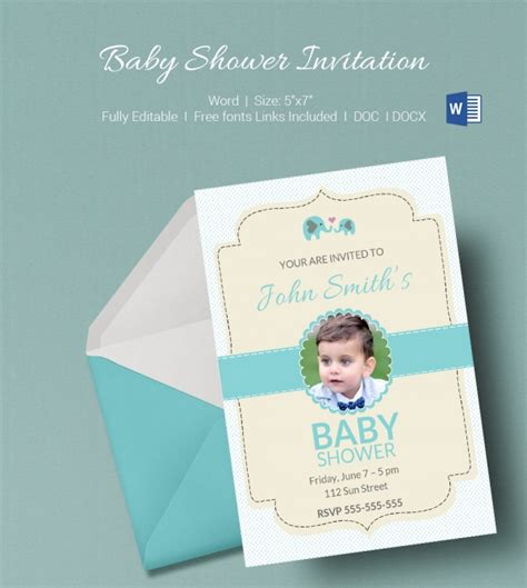 baby shower invitation template microsoft word 50 microsoft invitation templates free sles