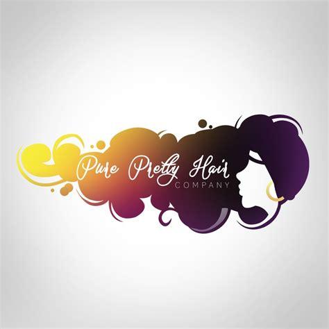 design business logo photoshop logo design for pure pretty hair company logo design