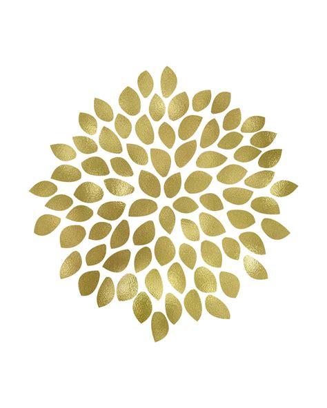 printable art large gold flower printable art these bare walls