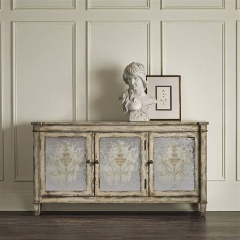 mirrored accent chests for living room ideas home hooker furniture 3 door mirrored accent chest in rustic