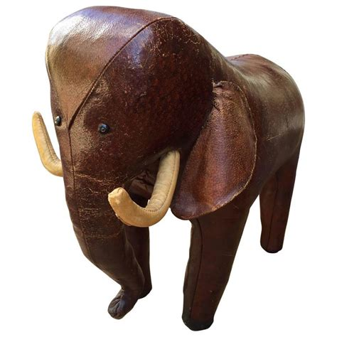 Leather Elephant Ottoman Leather Elephant Footstool Leather Elephant Footstool Omersa For Abercrombie For Sale At