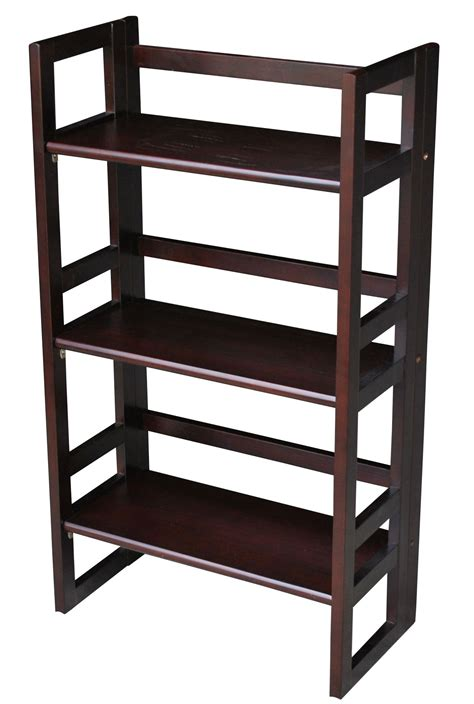 casual home 3 tier folding student bookcase 20 75 inch