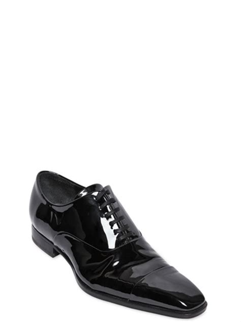 black patent oxford shoes dsquared 178 patent leather oxford shoes in black for lyst