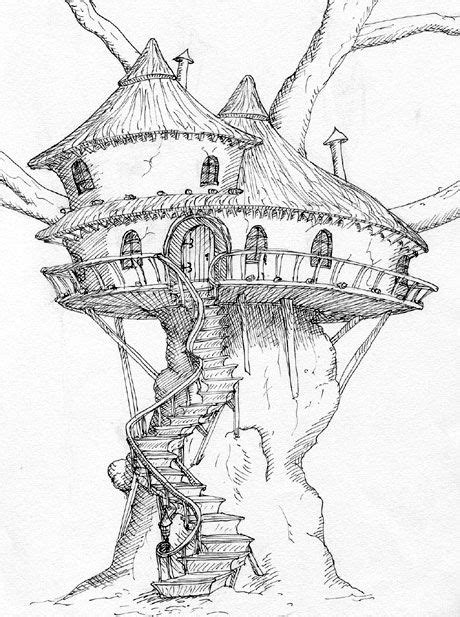 old tree house drawing treehouse pinned by www modlar com