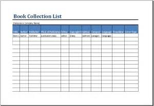 Inventory List Template Excel by Printable Book Inventory List Template Ms Excel Excel