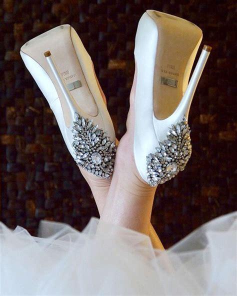 Out Of Style 2017 Badgley Mischka Kiara Embellished Peep Toe Pump Shoes Post