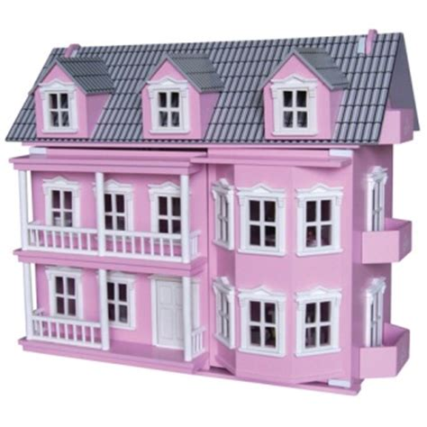 pink wooden dolls house romantic flair original