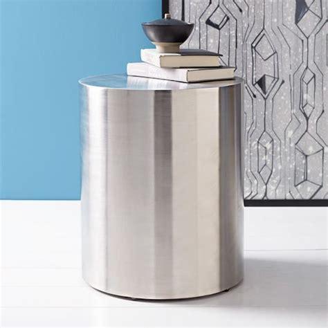 drum side table metal drum side table elm