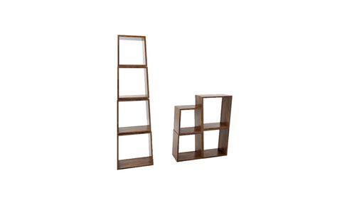 Meja Trapesium rak kayu susun trapesium powl studio toko furniture