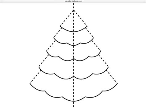 simple pyramid tree pop up card template pop up tree template best template idea