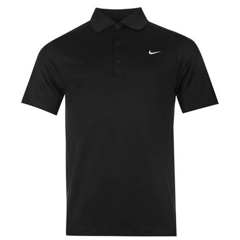 Polo Shirt Nike nike solid golf polo shirt mens black collared t shirt top ebay